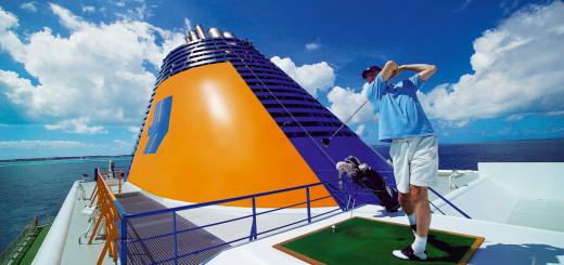 Golfen mit Meerblick