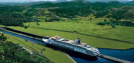 Die MS Maasdam im Panamakanal © Holland America Line