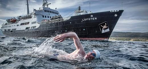 Lewis Pugh, Extremschwimmer und Botschafter der Hurtigruten Stiftung  © Hurtigruten