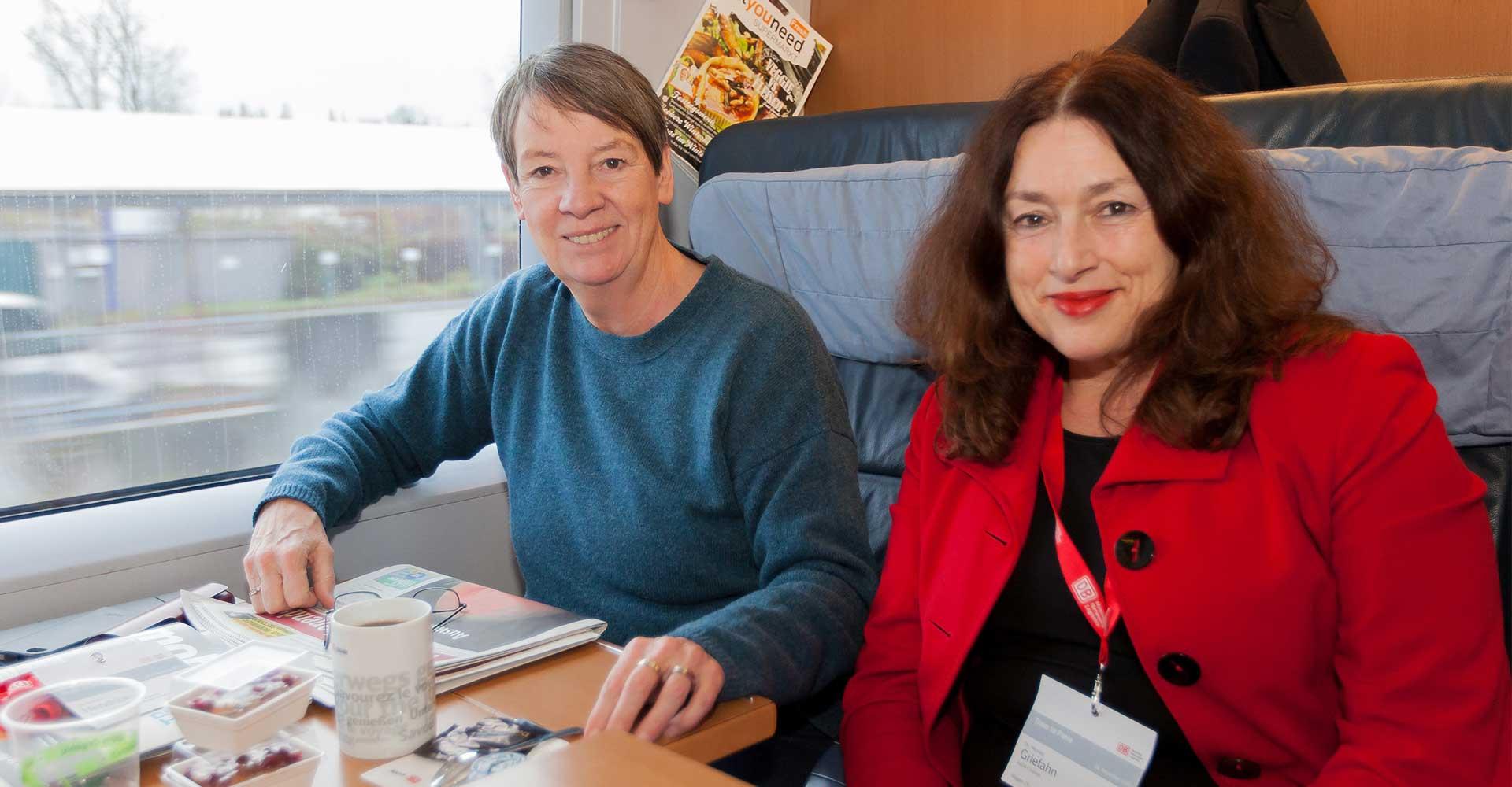 AIDA Umweltdirektorin Dr. Monika Griefahn mit Bundesumweltministerin Dr. Barbara Hendricks © Bjoern Foerster