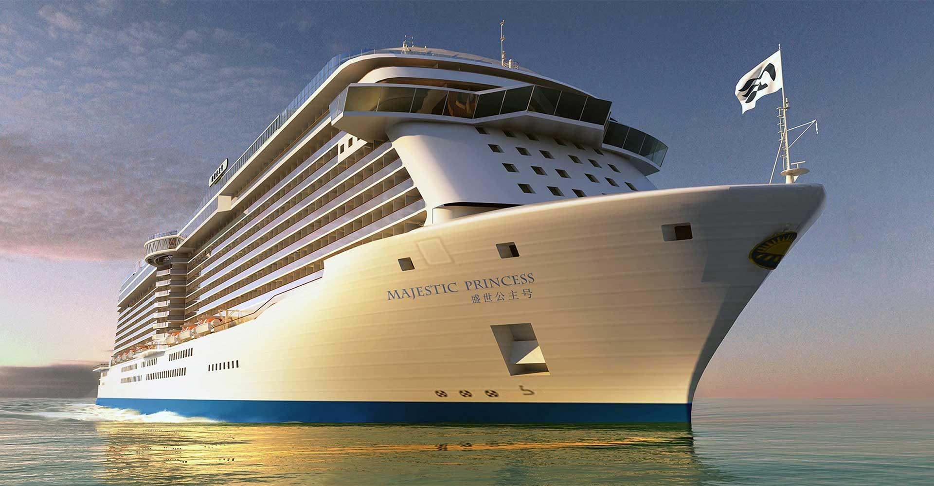 So wird er aussehen, der Neubau Majestic Princess. © Princess Cruises