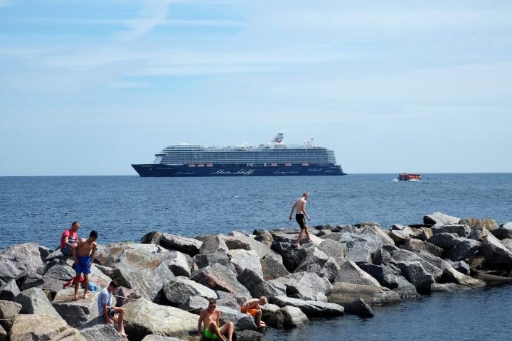Mein Schiff 5 vor Bornholm (alle Fotos: Jutta Lemcke)
